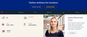 Online webinar for teachers